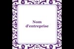 Motif de tourbillons violets Étiquettes carrées - gabarit prédéfini. <br/>Utilisez notre logiciel Avery Design & Print Online pour personnaliser facilement la conception.