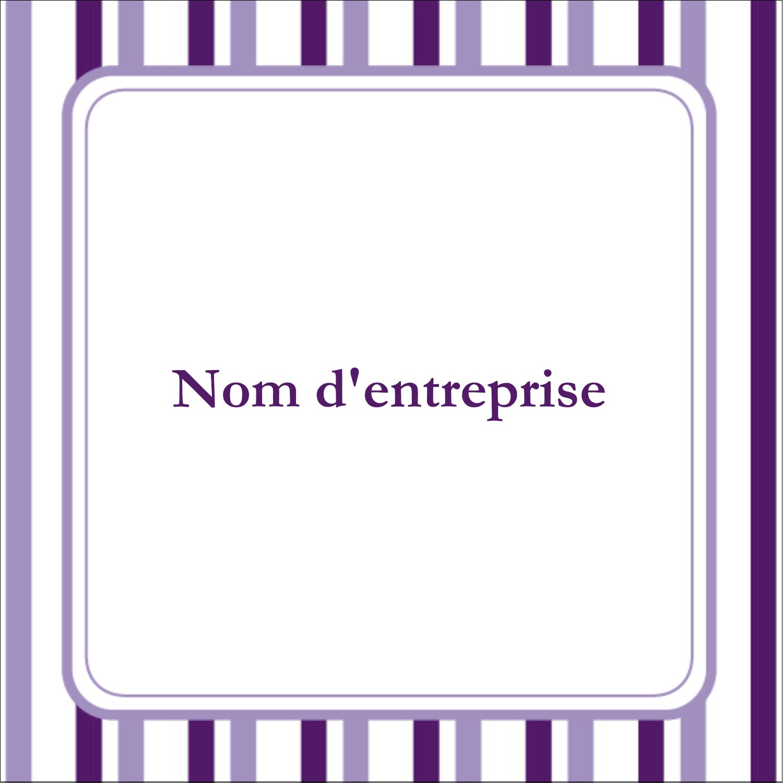 Rayures violettes Étiquettes carrées - gabarit prédéfini. <br/>Utilisez notre logiciel Avery Design & Print Online pour personnaliser facilement la conception.