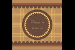 Beurre d'arachide de Pauline Étiquettes carrées - gabarit prédéfini. <br/>Utilisez notre logiciel Avery Design & Print Online pour personnaliser facilement la conception.