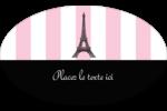 Style parisien Étiquettes carrées - gabarit prédéfini. <br/>Utilisez notre logiciel Avery Design & Print Online pour personnaliser facilement la conception.