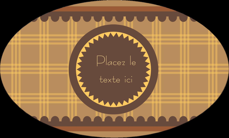 """1½"""" x 1½"""" Étiquettes carrées - Beurre d'arachide de Pauline"""