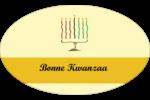Kinara de Kwanzaa Étiquettes carrées - gabarit prédéfini. <br/>Utilisez notre logiciel Avery Design & Print Online pour personnaliser facilement la conception.