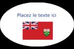 Drapeau de l'Ontario  Étiquettes ovales - gabarit prédéfini. <br/>Utilisez notre logiciel Avery Design & Print Online pour personnaliser facilement la conception.