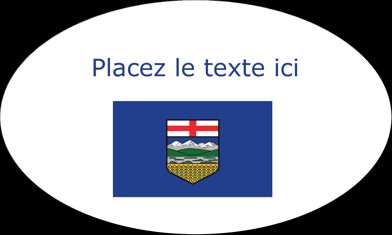 "1½"" x 1½"" Étiquettes carrées - Drapeau de l'Alberta"
