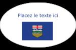 Drapeau de l'Alberta Étiquettes carrées - gabarit prédéfini. <br/>Utilisez notre logiciel Avery Design & Print Online pour personnaliser facilement la conception.