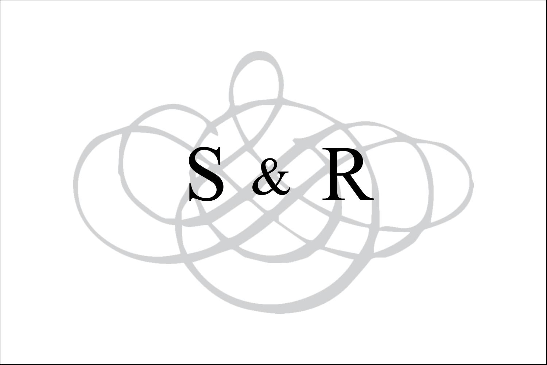 """3"""" x 2"""" Étiquettes Polyvalentes - Monogramme de mariage"""