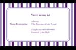 Rayures violettes Carte d'affaire - gabarit prédéfini. <br/>Utilisez notre logiciel Avery Design & Print Online pour personnaliser facilement la conception.