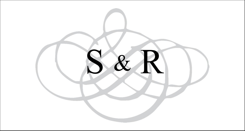 """2-13/16"""" x 1½"""" Étiquettes Pour Copieurs - Monogramme de mariage"""