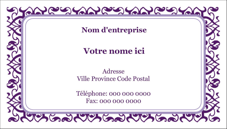 Motif de tourbillons violets Cartes Pour Le Bureau - gabarit prédéfini. <br/>Utilisez notre logiciel Avery Design & Print Online pour personnaliser facilement la conception.