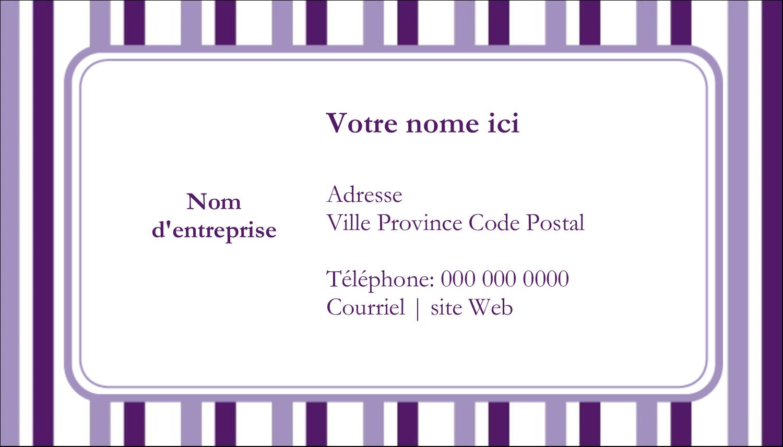 Rayures violettes Cartes Pour Le Bureau - gabarit prédéfini. <br/>Utilisez notre logiciel Avery Design & Print Online pour personnaliser facilement la conception.
