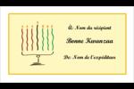 Kinara de Kwanzaa Cartes Pour Le Bureau - gabarit prédéfini. <br/>Utilisez notre logiciel Avery Design & Print Online pour personnaliser facilement la conception.