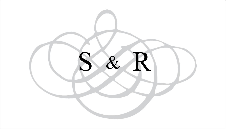 """4"""" x 2"""" Étiquettes Polyvalentes - Monogramme de mariage"""