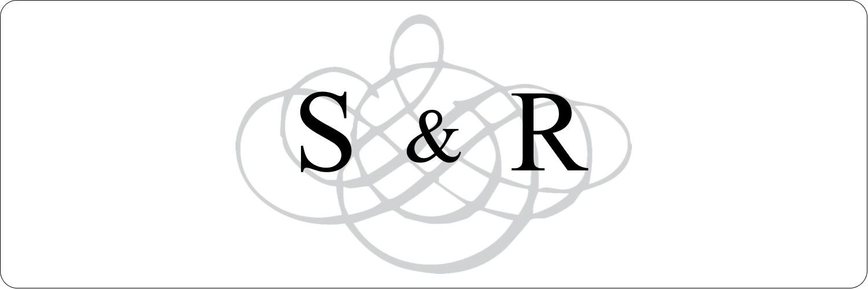 """3"""" x 1"""" Étiquettes Polyvalentes - Monogramme de mariage"""