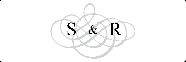 """4"""" x 1⅓"""" Étiquettes D'Adresse - Monogramme de mariage"""