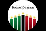 Bougies à étoile de Kwanzaa Étiquettes Voyantes - gabarit prédéfini. <br/>Utilisez notre logiciel Avery Design & Print Online pour personnaliser facilement la conception.
