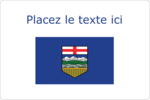 Drapeau de l'Alberta Étiquettes rectangulaires - gabarit prédéfini. <br/>Utilisez notre logiciel Avery Design & Print Online pour personnaliser facilement la conception.