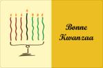 Kinara de Kwanzaa Étiquettes rectangulaires - gabarit prédéfini. <br/>Utilisez notre logiciel Avery Design & Print Online pour personnaliser facilement la conception.