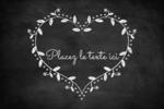 L'amour en tableau Étiquettes rectangulaires - gabarit prédéfini. <br/>Utilisez notre logiciel Avery Design & Print Online pour personnaliser facilement la conception.