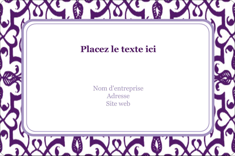"""3"""" x 3¾"""" Étiquettes rectangulaires - Motif de tourbillons violets"""