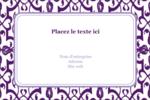 Motif de tourbillons violets Étiquettes rectangulaires - gabarit prédéfini. <br/>Utilisez notre logiciel Avery Design & Print Online pour personnaliser facilement la conception.