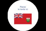 Drapeau de l'Ontario  Étiquettes rondes gaufrées - gabarit prédéfini. <br/>Utilisez notre logiciel Avery Design & Print Online pour personnaliser facilement la conception.