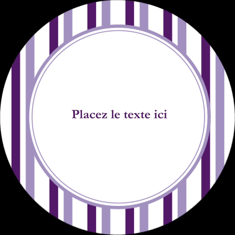 Rayures violettes Étiquettes arrondies - gabarit prédéfini. <br/>Utilisez notre logiciel Avery Design & Print Online pour personnaliser facilement la conception.