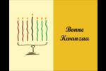 Kinara de Kwanzaa Étiquettes rondes gaufrées - gabarit prédéfini. <br/>Utilisez notre logiciel Avery Design & Print Online pour personnaliser facilement la conception.