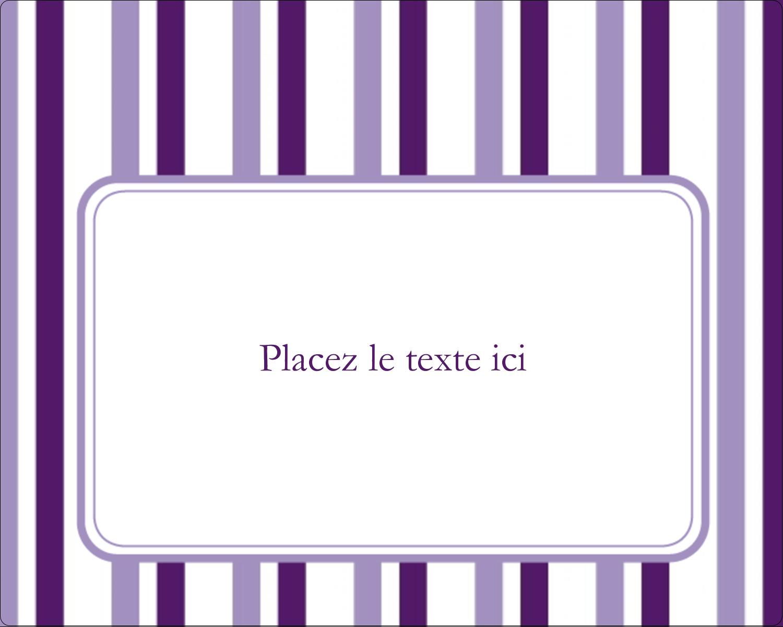Rayures violettes Étiquettes rondes gaufrées - gabarit prédéfini. <br/>Utilisez notre logiciel Avery Design & Print Online pour personnaliser facilement la conception.