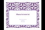 Motif de tourbillons violets Étiquettes rondes gaufrées - gabarit prédéfini. <br/>Utilisez notre logiciel Avery Design & Print Online pour personnaliser facilement la conception.