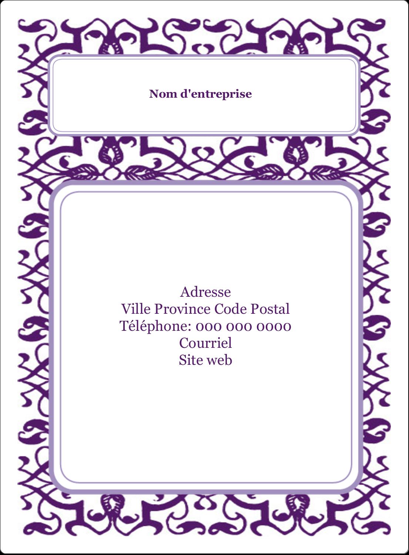 """2½"""" Diameter Étiquettes rondes - Motif de tourbillons violets"""