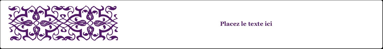 """1½"""" x 2½"""" Étiquettes ovales - Motif de tourbillons violets"""