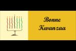 Kinara de Kwanzaa Affichette - gabarit prédéfini. <br/>Utilisez notre logiciel Avery Design & Print Online pour personnaliser facilement la conception.