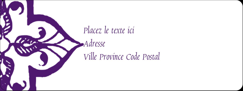 """⅔"""" x 1¾"""" Étiquettes D'Adresse - Motif de tourbillons violets"""