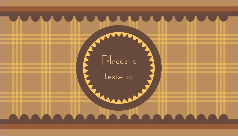 """3½"""" x 2"""" Carte d'affaire - Beurre d'arachide de Pauline"""