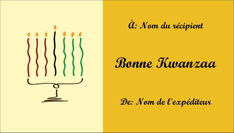 "3½"" x 2"" Carte d'affaire - Kinara de Kwanzaa"