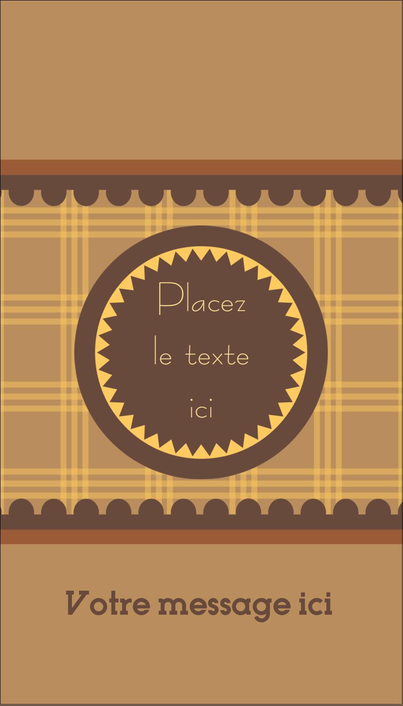 """2"""" x 3½"""" Carte d'affaire - Beurre d'arachide de Pauline"""