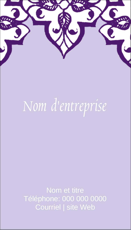 """2"""" x 3½"""" Carte d'affaire - Motif de tourbillons violets"""