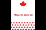 Motif à feuille d'érable Carte Postale - gabarit prédéfini. <br/>Utilisez notre logiciel Avery Design & Print Online pour personnaliser facilement la conception.