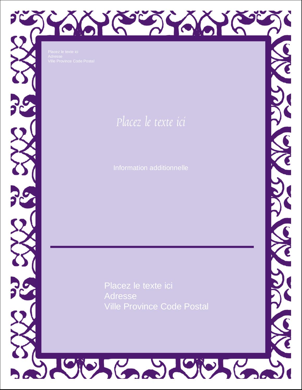 """5½"""" x 4¼"""" Carte Postale - Motif de tourbillons violets"""