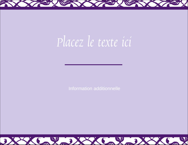 """4¼"""" X 5½"""" Carte Postale - Motif de tourbillons violets"""