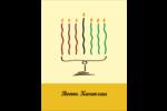 Kinara de Kwanzaa Carte Postale - gabarit prédéfini. <br/>Utilisez notre logiciel Avery Design & Print Online pour personnaliser facilement la conception.