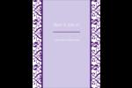 Motif de tourbillons violets Carte Postale - gabarit prédéfini. <br/>Utilisez notre logiciel Avery Design & Print Online pour personnaliser facilement la conception.