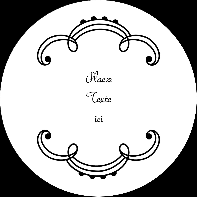 """3"""" Diameter Étiquettes rondes - Le mariage fantaisiste de Martha Stewart"""