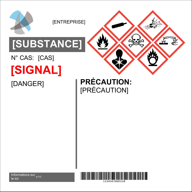 """2"""" x 4"""" Étiquette Industrielles - Assistant SGH"""