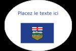 Drapeau de l'Alberta Étiquettes ovales festonnées - gabarit prédéfini. <br/>Utilisez notre logiciel Avery Design & Print Online pour personnaliser facilement la conception.