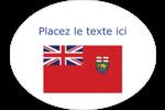 Drapeau du Manitoba Étiquettes ovales - gabarit prédéfini. <br/>Utilisez notre logiciel Avery Design & Print Online pour personnaliser facilement la conception.