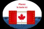 Smoking canadien Étiquettes ovales - gabarit prédéfini. <br/>Utilisez notre logiciel Avery Design & Print Online pour personnaliser facilement la conception.