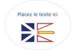 Drapeau de Terre-Neuve-et-Labrador Étiquettes ovales festonnées - gabarit prédéfini. <br/>Utilisez notre logiciel Avery Design & Print Online pour personnaliser facilement la conception.