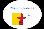 Drapeau du Nunavut Étiquettes ovales festonnées - gabarit prédéfini. <br/>Utilisez notre logiciel Avery Design & Print Online pour personnaliser facilement la conception.