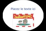 Drapeau de l'Île-du-Prince-Édouard Étiquettes ovales - gabarit prédéfini. <br/>Utilisez notre logiciel Avery Design & Print Online pour personnaliser facilement la conception.